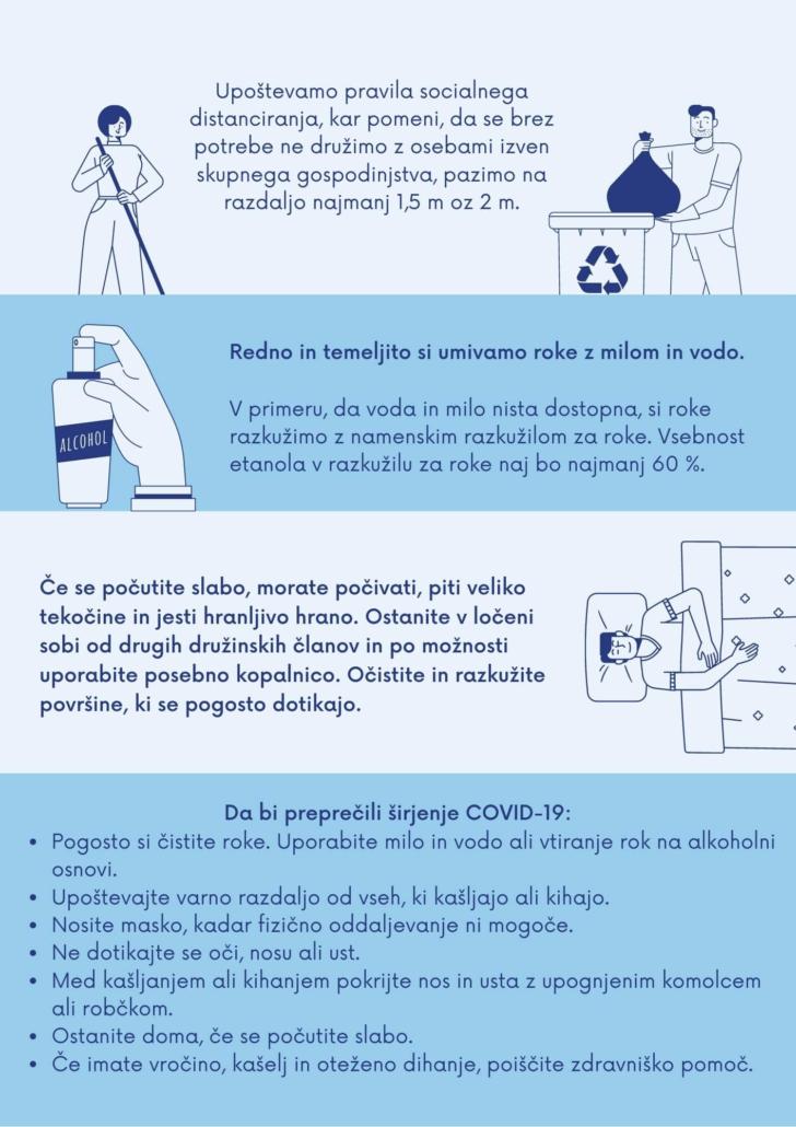 navodila za preprečevanje okužbe z koronavirusom